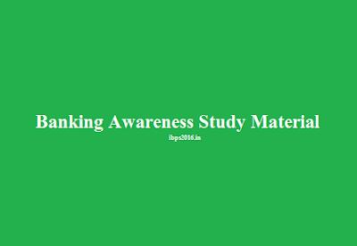 Banking Awareness Study Material