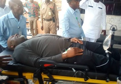 Scores of Armed Policemen Guarding Melaye in Hospital
