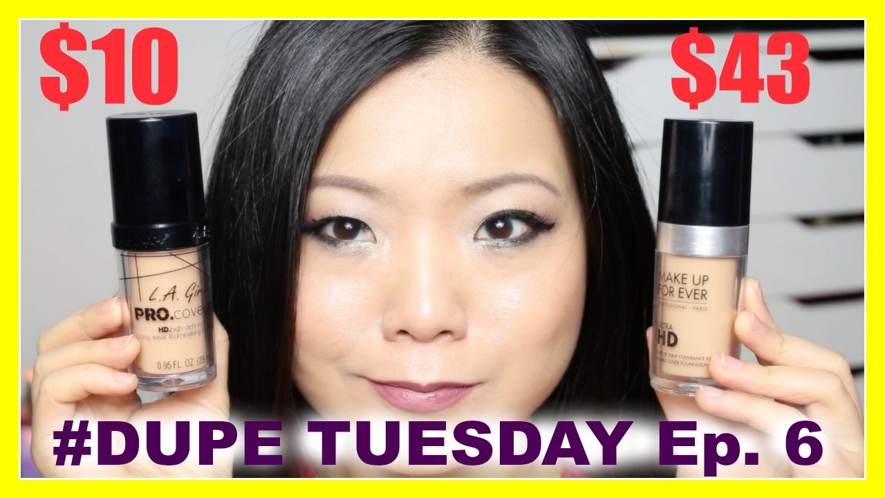 Welcome back to Dupe Tuesday where I compare high end makeup with drugstore dupes! In this episode 6, I am comparing LA Girl Pro Coverage Illuminating HD ...