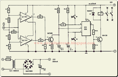 Build a Audio Controlled Mains Switch Circuit Diagram