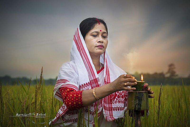 Kongali or Kati Bihu Stock Photos