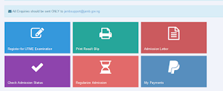 jamb e facility dashboard