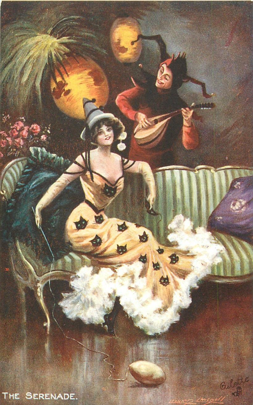 Старинные открытки в честь Хэллоуина - 05