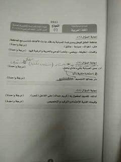 نموذج إجابة امتحان اللغة العربية للثانوية العامة 2019 دور أول 4