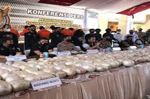 Polisi Ungkap Peredaran Sabu Seberat 402,38 Kg