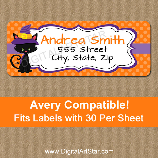 halloween personalized address labels