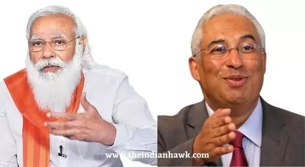 Prime Minister Narendra Modi and his Portuguese counterpart Antonio Costa