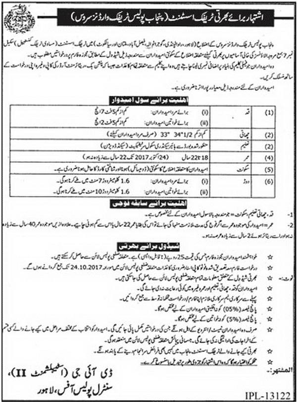 Traffic Wardens Jobs in Punjab