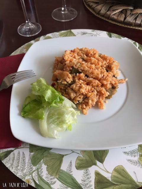 arroz emplatado