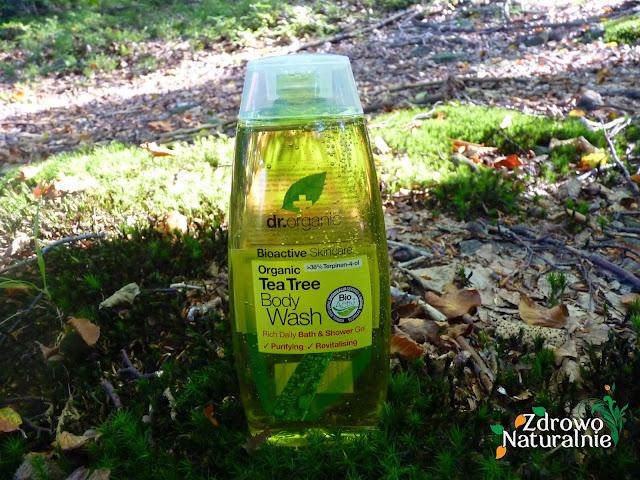 Dr Organic - Organiczny żel do mycia ciała drzewo herbaciane