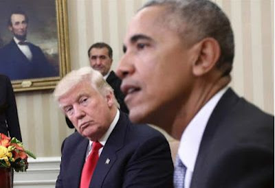 US President, Donald Trump and Obama