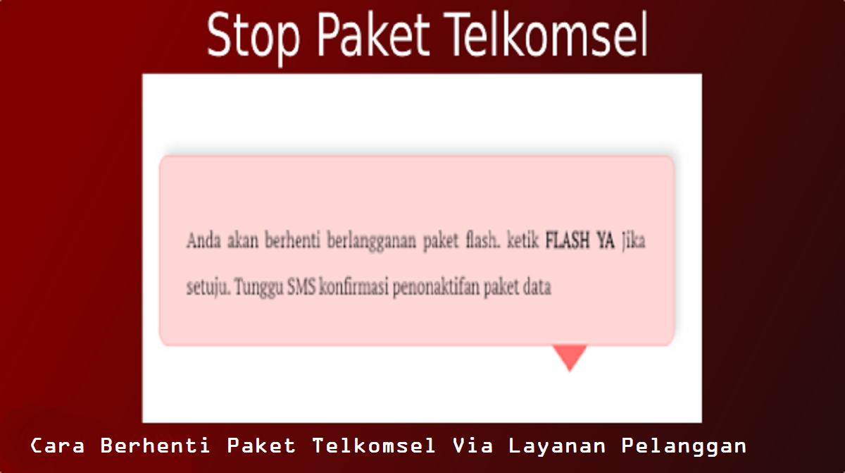 Cara Berhenti Paket Telkomsel