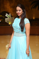 Pujita Ponnada in transparent sky blue dress at Darshakudu pre release ~  Exclusive Celebrities Galleries 003.JPG