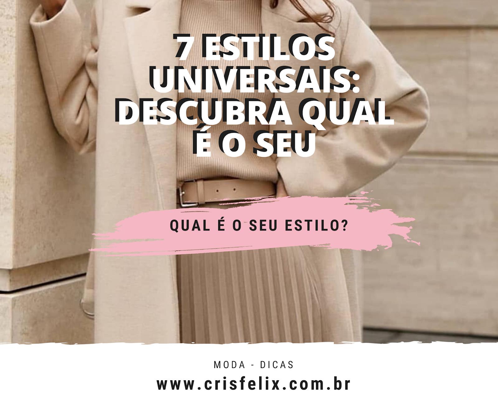 7 estilos universais