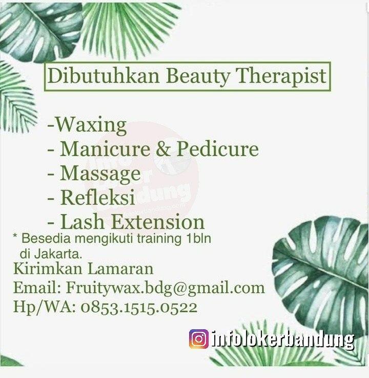 Lowongan Kerja Beauty Therapistt  Fruitywax Bandung Januari 2020