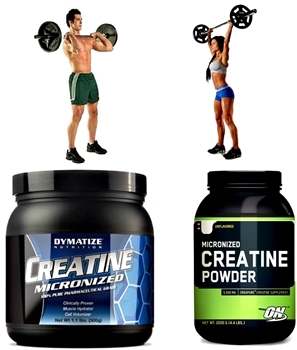 Creatina en polvo masa muscular