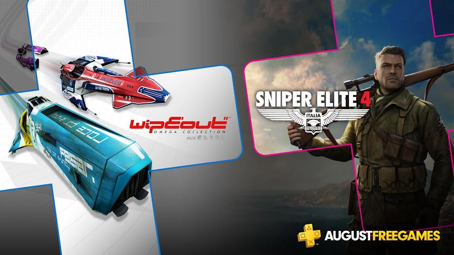 playstation plus free games august 2019 wipeout omega collection sniper elite 4