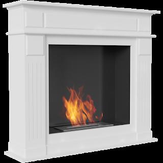 biokominek, ciepło, dom, biały kominek, portalowy