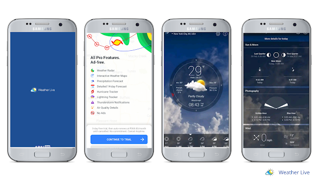 Weather live, best weather app for Android