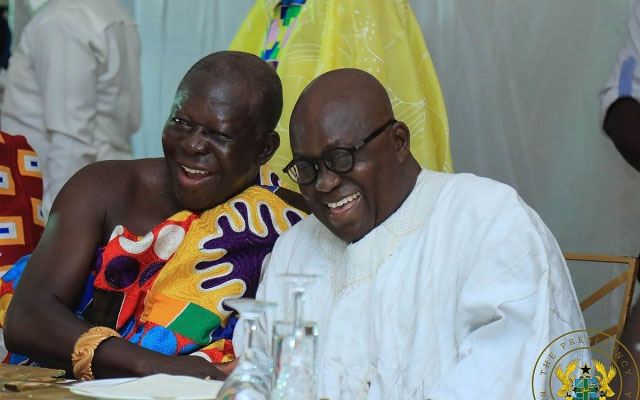Akufo-Addo Hosts Otumfuo At Jubilee House