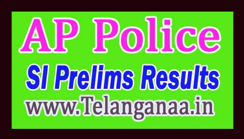 AP Police SI Prelims Results 2018 @ recruitment.appolice.gov.in