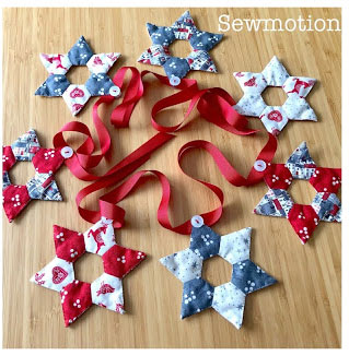 Christmas bunting from SewMotion
