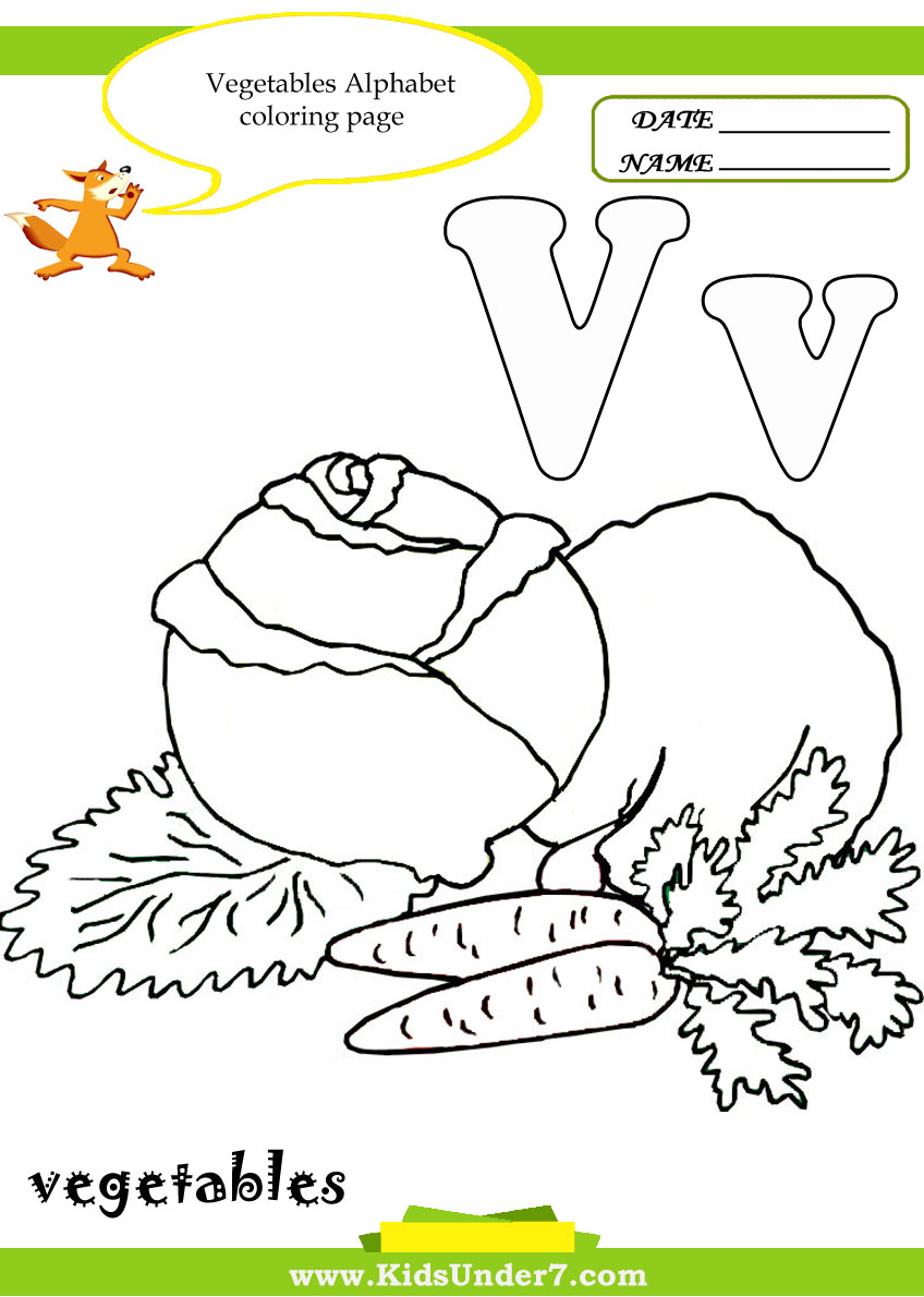 v coloring pages preschool-#39