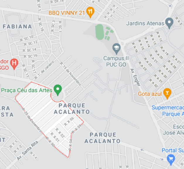 Falso mapa do Parque Flamboyant