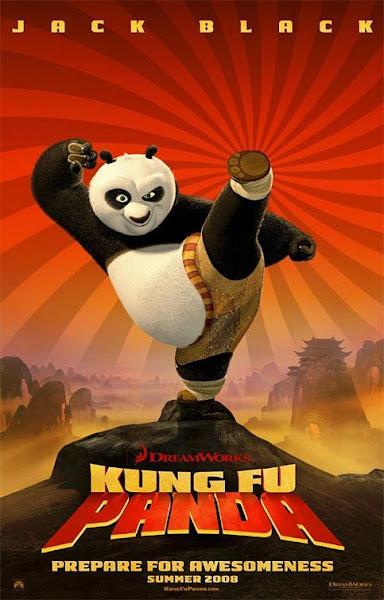 Poster of Kung Fu Panda 2008 Hindi 720p BRRip Dual Audio Full Movie Download
