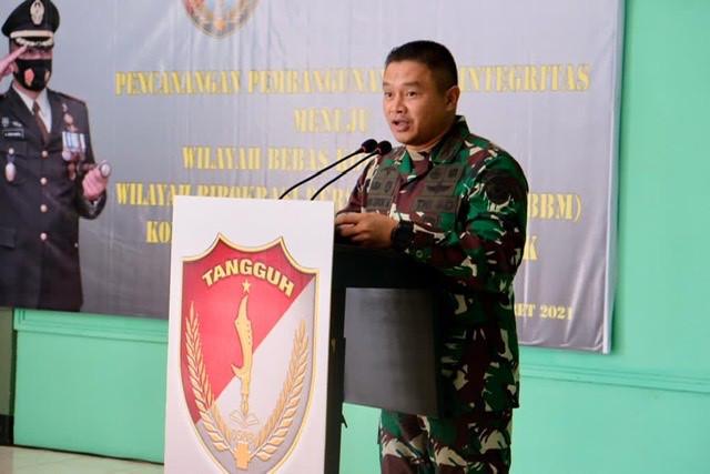 Kodim Depok Canangkan Wilayah Bebas Korupsi