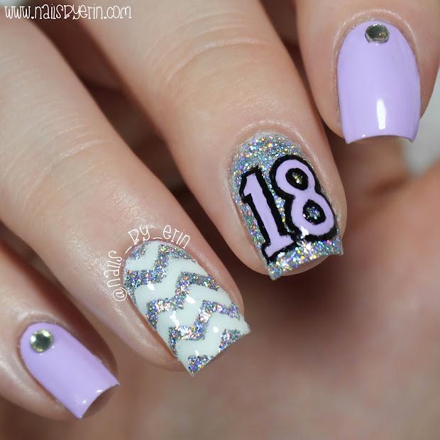 nailsbyerin 18th birthday nails