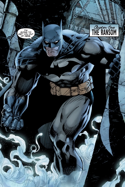 Batman dibujado por Jim Lee