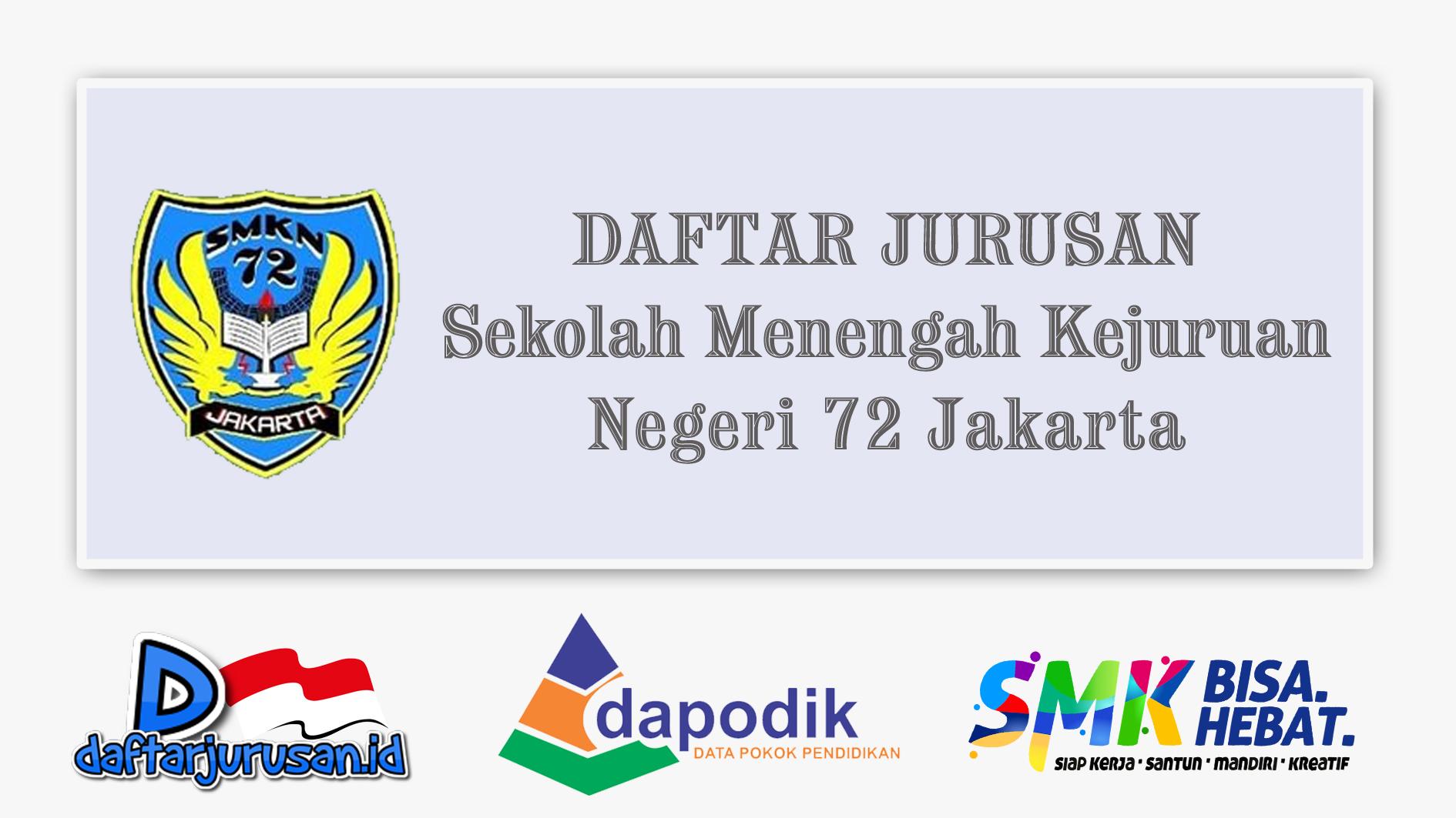 Daftar Jurusan SMK Negeri 72 Jakarta Barat