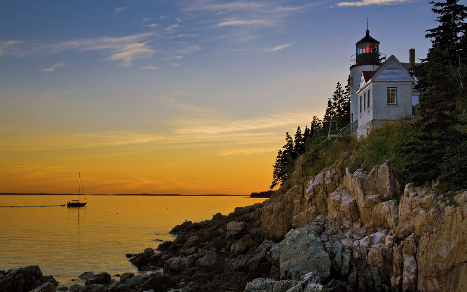 Bass Harbor Lighthouse Acadia National Park Maine wallpapers