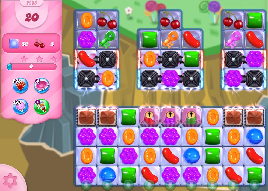 Candy Crush Saga level 2908