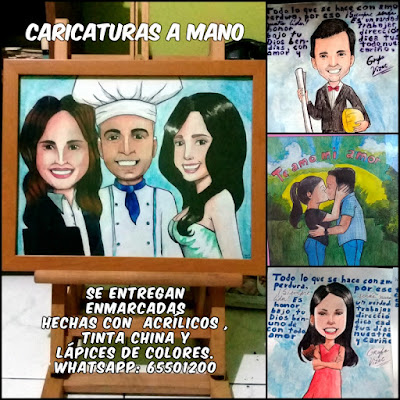 caricaturas hechas a mano
