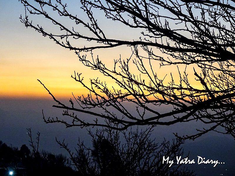 Stunning Sunset while on a village trail in Dhanachuli Uttarakhand