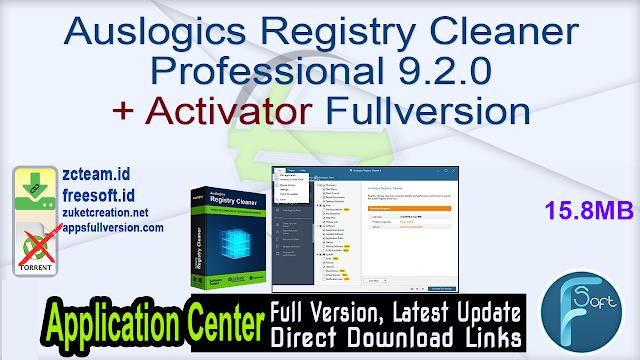 Auslogics Registry Cleaner Professional 9.2.0 + Activator Fullversion