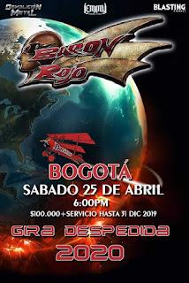 Concierto de BARON ROJO en Colombia