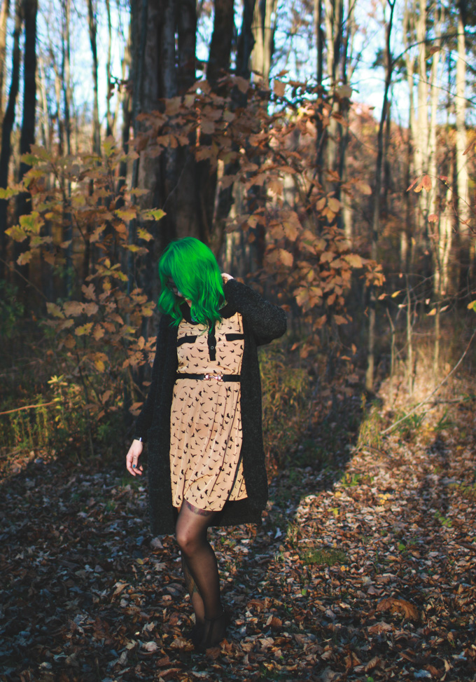 green hair, cleveland fashion blog, blogger, ohio, ootd