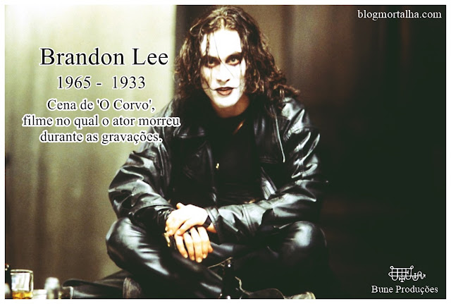 Fotografia de Brandon Lee em, O Corvo, filme de 1994.
