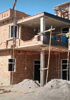 front masonry work by dhiman construction work
