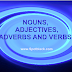 Learning Nouns, Adjectives, Adverbs and Verbs