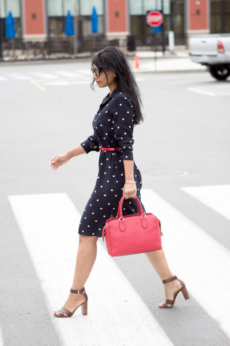 Work Style - Double Dot Dress