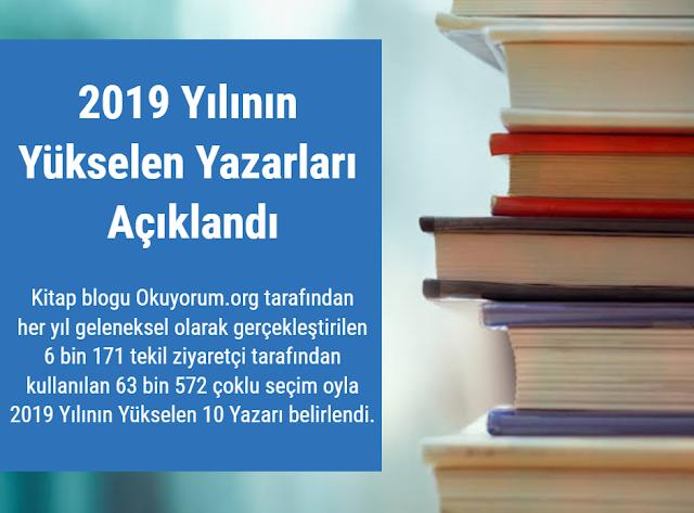 Kitap Blogu Okuyorum.org 2019 Yılının Yükselen 10 Yazarı Anketi