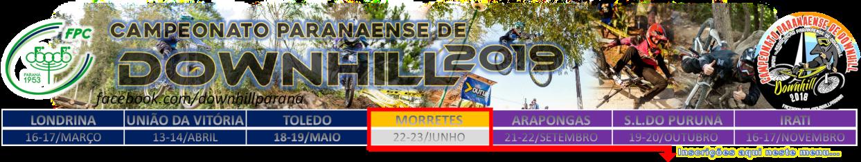 Banner do Campeonato Paranaense de DH 2019