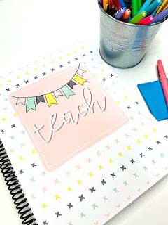 teacher planner with flair pens