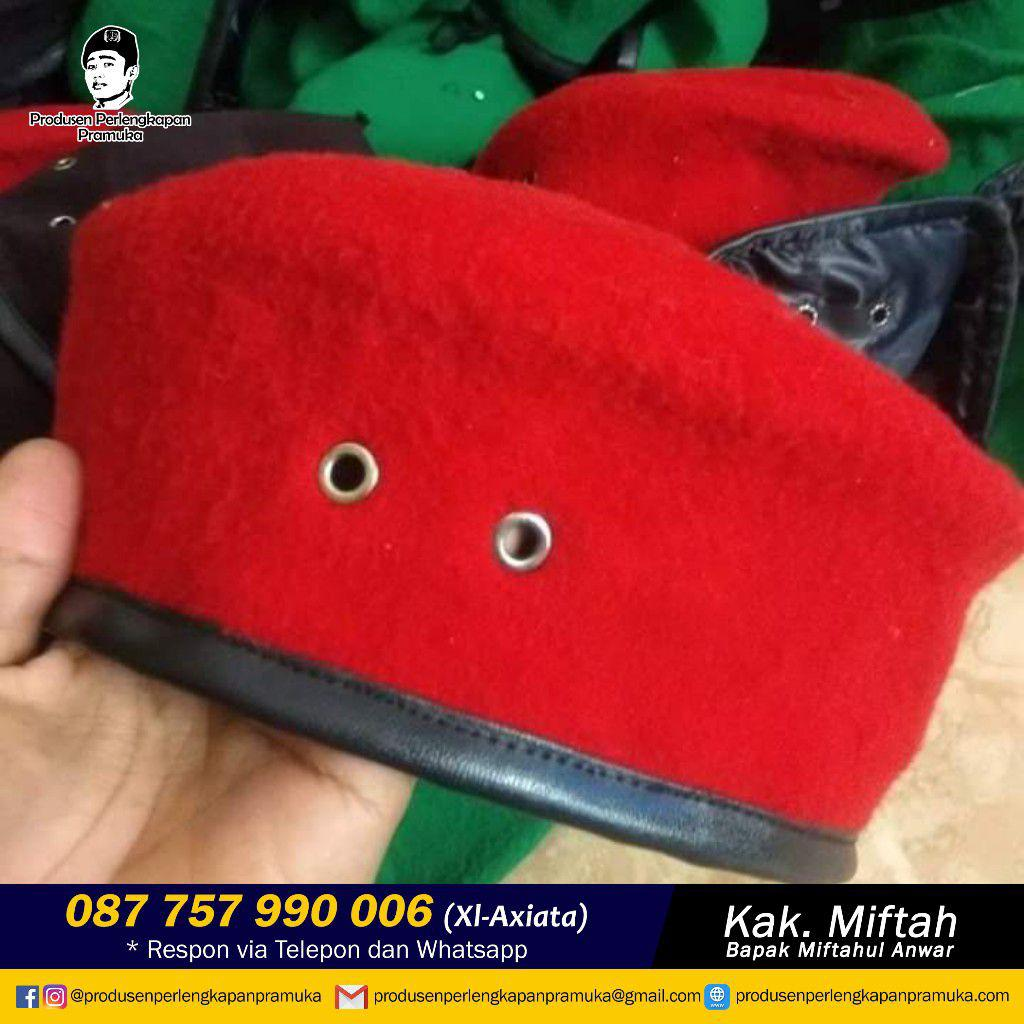 Jual & Produsen Baret Merah Kopassus  WA 0877-5799-0006