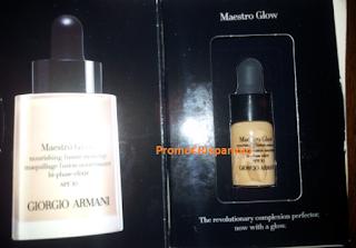 Logo In consegna campione omaggio Fondotinta Maestro Glow Giorgio Armani