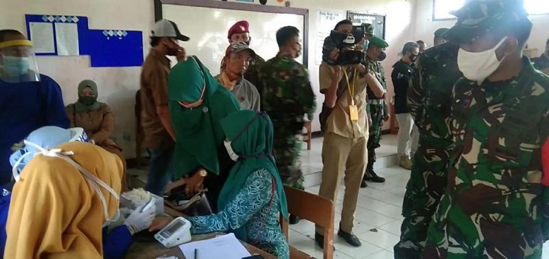Rapidtes Covid 19 turut di laksanakan dalam Pembukaan TMMD Ke-108 Kodim 0622/Kabupaten Sukabumi